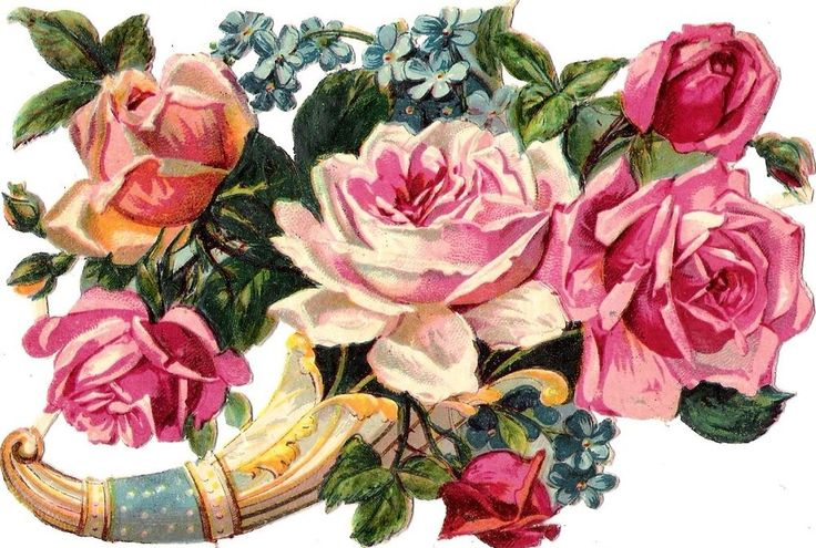 Oblaten Glanzbild scrap die cut chromo  Blume flower Rose  14,4 cm