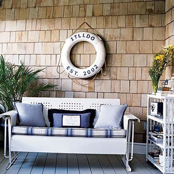 Great Nautical Is A Great Theme For An Outdoor Space