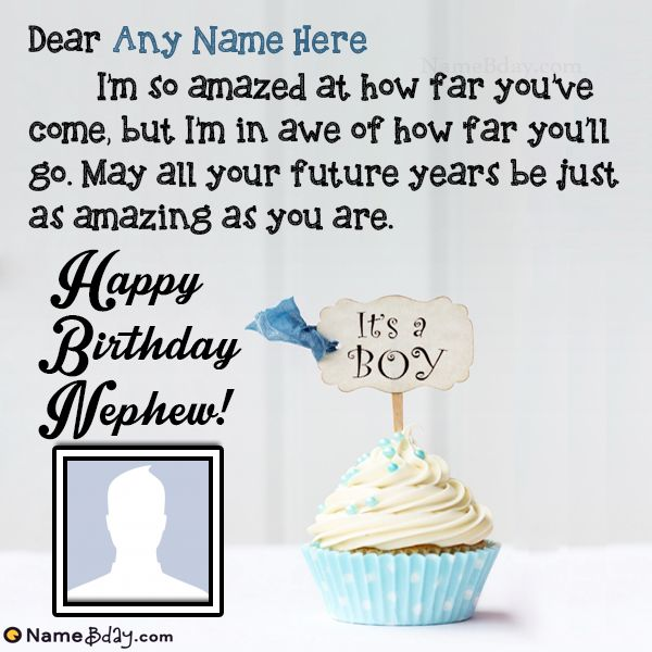Name Birthday Wishes For Nephew From Aunt | Birthday ...