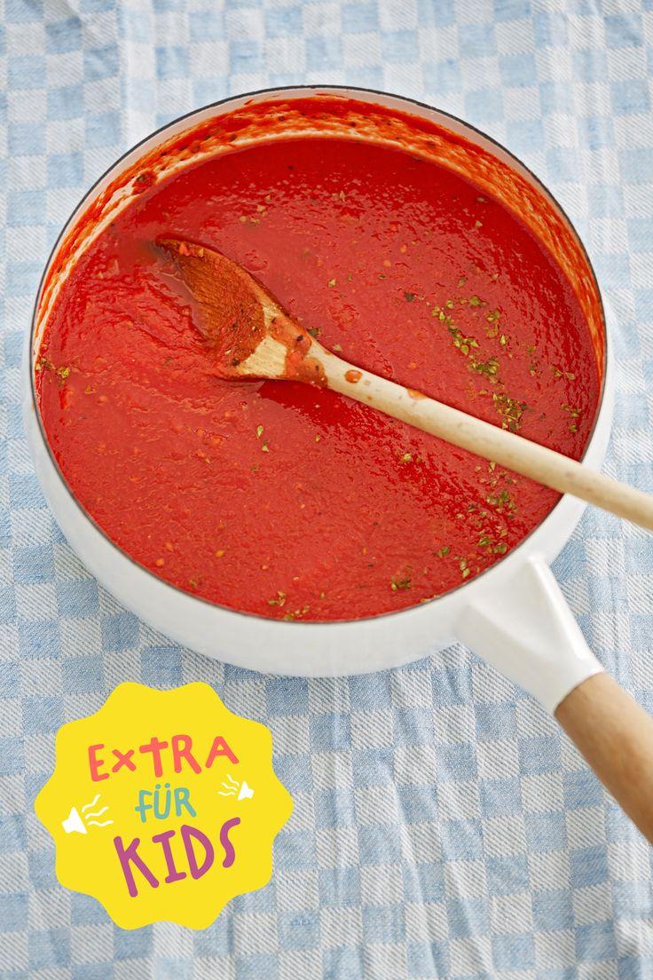 Die beste Tomatensauce, die der ganzen Familie schmeckt! Kindgerecht aufbereitet bei Chefkoch Kids!