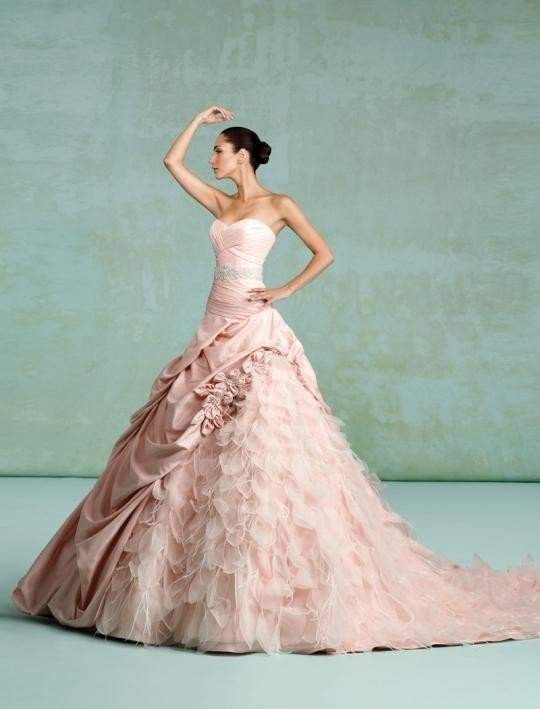Robe de mariée romantique vieux rose - Kittichen couture