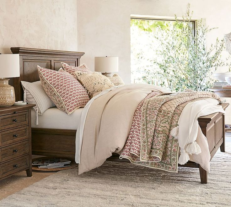 Hudson Bed, Queen, Mahogany Stain At Pottery Barn