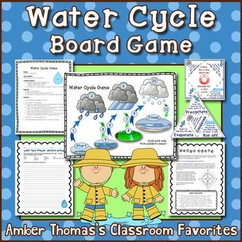 This board game is perfect to help you students practice studying the stages of the water cycle.  $