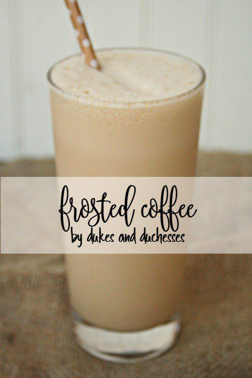 Blend a couple of ingredients for delicious frosted coffee, a copycat recipe you'll love!