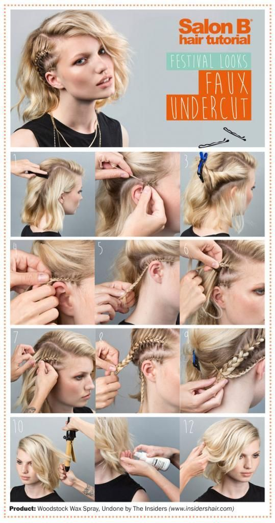 Festival hair: faux undercut