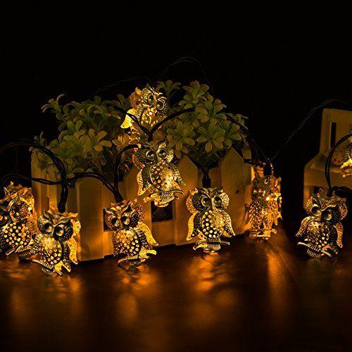 Solar Powered White Christmas Lights