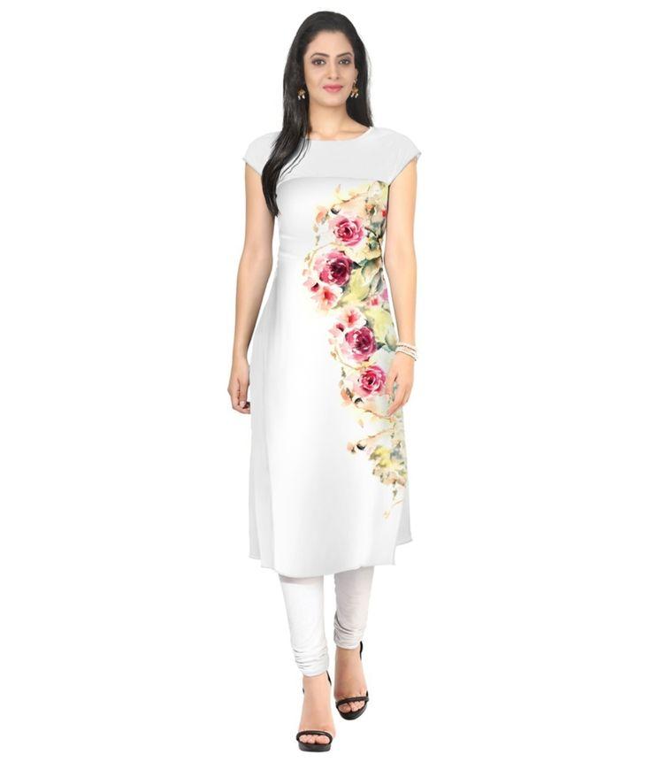 Designer floral printed kurti