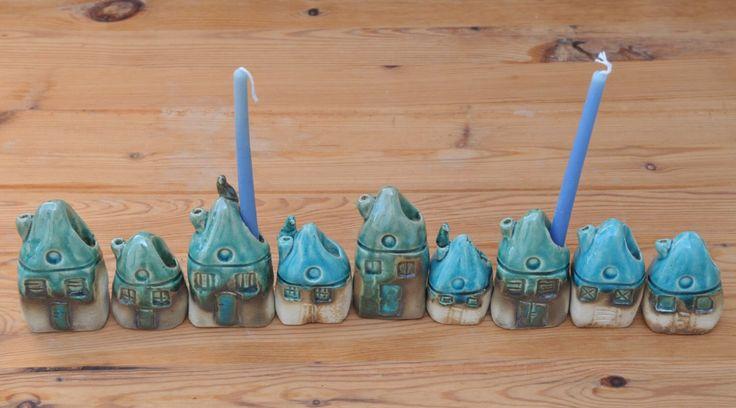 Hanukkah Menorah, Judaica, Hanukkah gift, Hanukkah Decoration, Jewish Candle holder, Jewish Menorah, Ceramics Menorah, Handmade Menorah by SergioFaingold on Etsy https://www.etsy.com/listing/163497303/hanukkah-menorah-judaica-hanukkah-gift