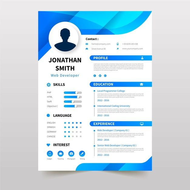 Download Online Curriculum Vitae Template With Blue Elements For Free In 2020 Curriculum Vitae Template Curriculum Vitae Curriculum Vitae Template Free