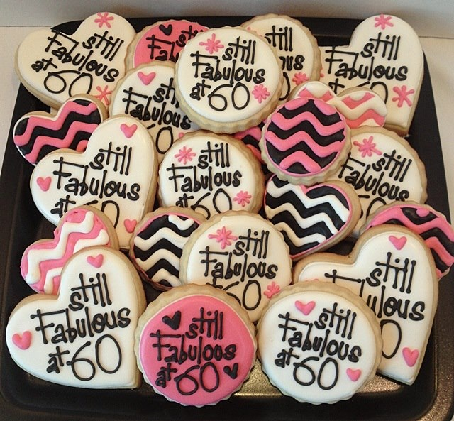Sugar cookies someone is turning 60 60th birthday cakes