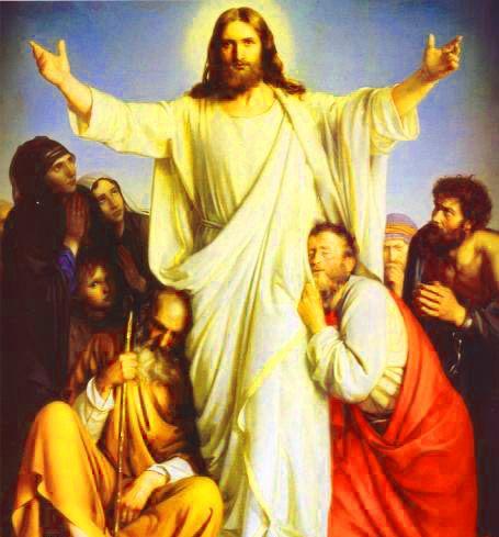 Lindas imagenes de jesus resucitado entre sus apostoles