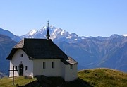 Heaven On Earth - church, mountain, switzerland, god, peak, architecture,travel, outdoor, nikon, beautiful, color, light,  alps, edelweiss, geneva, heidi, helvetians, interlaken, snow, zurich, cabin, view, prayer, summit, best, top rated, top selling, pinterest