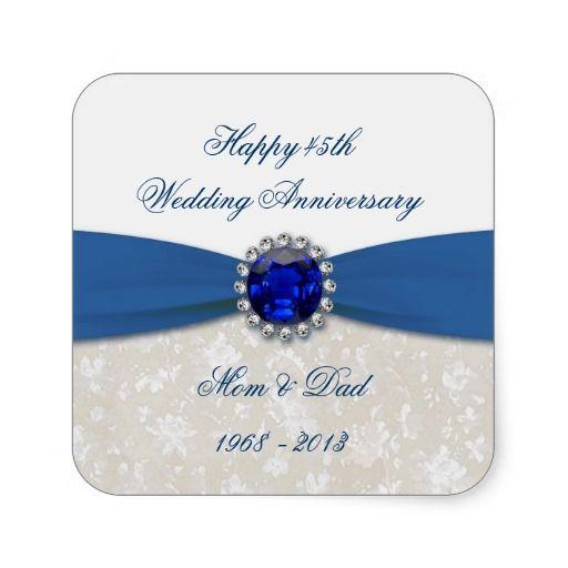 Sapphire Wedding Anniversary Gift Ideas For Parents : about Sapphire Wedding Anniversary on Pinterest Wedding anniversary ...