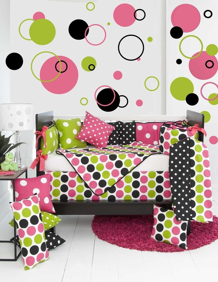 Poka Dots and Circles Wall Decal Stickers - 102 Piece Set bc44de8d7f06