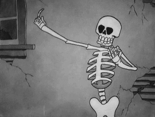 black&white, gif, grunge, halloween, lol, skeleton