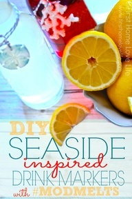 Seaside Inspired Drink Tags Using Mod Melts #modmelts SO CUTE!