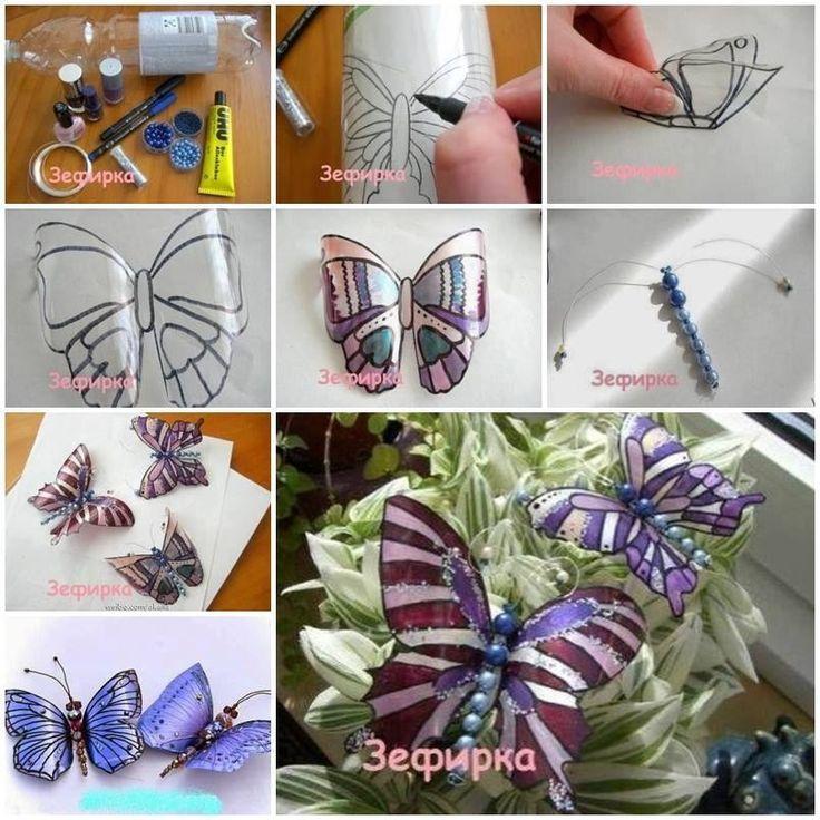 Una simple radiografía calcas unas lindas mariposas y por detrás las pintás con marcadores indelebles la cortas con tijeras y ya está!