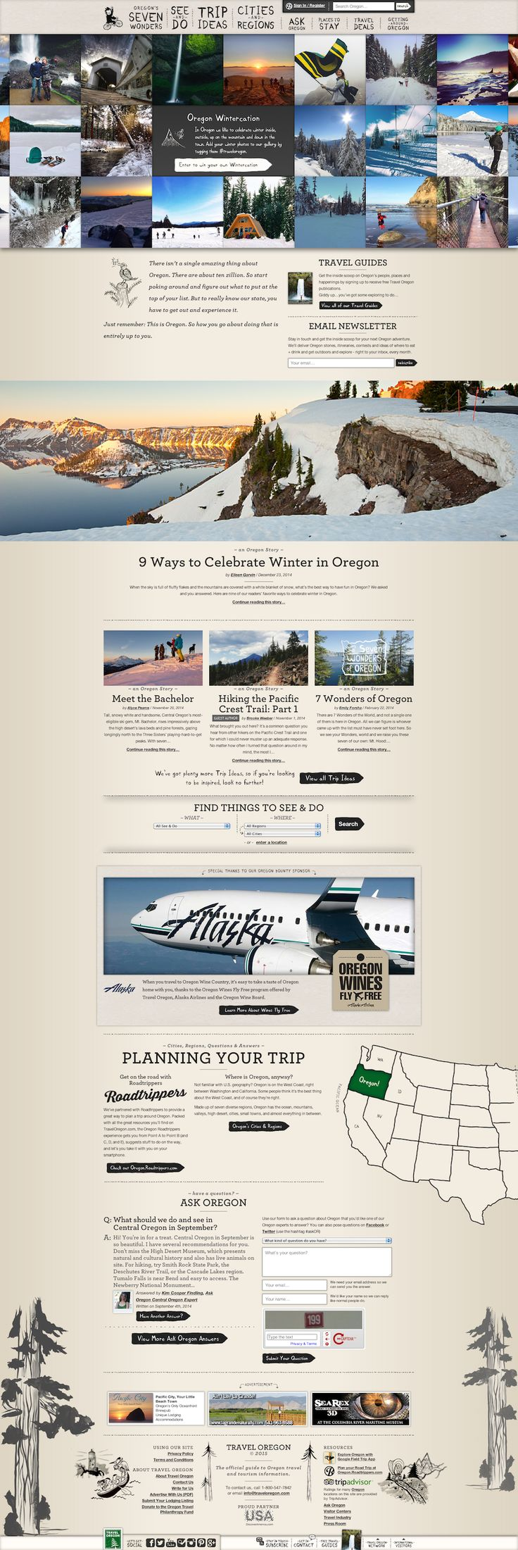 Oregon tourism website #travel #tan #photography #gray
