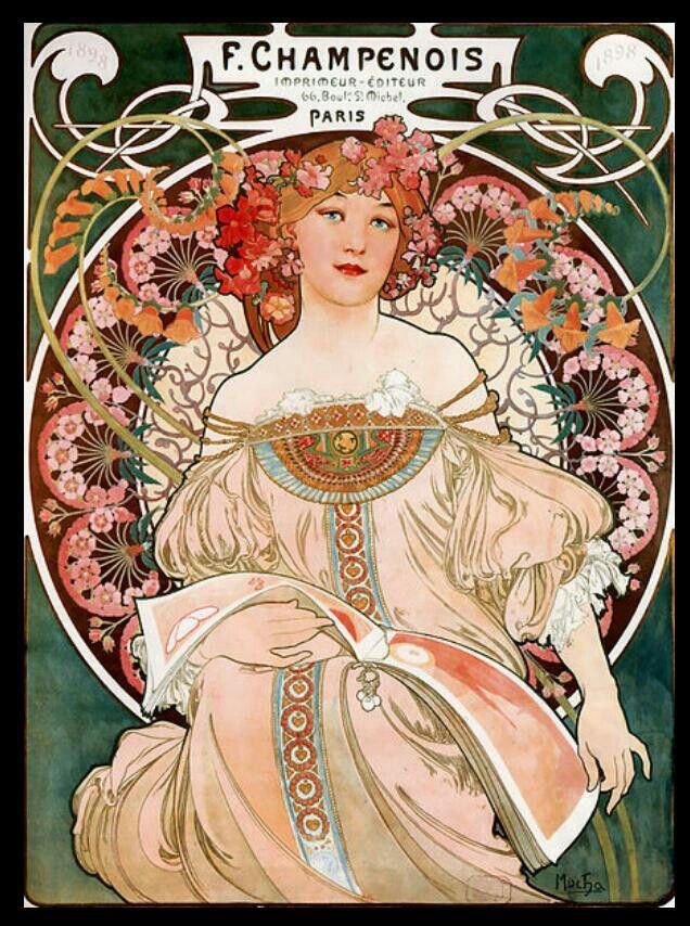 Art Nouveau poster art