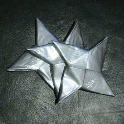 duct tape throwing stars