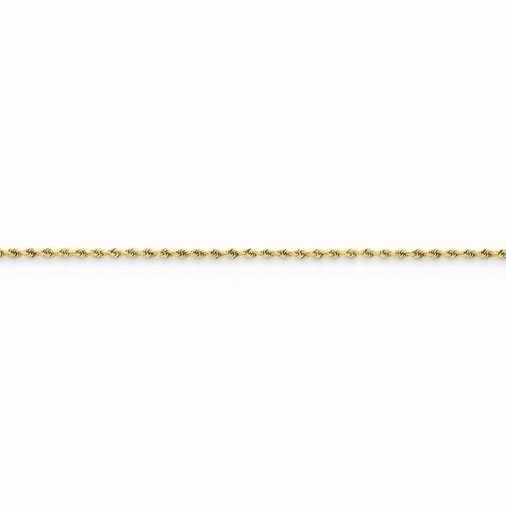 14k Yellow Gold 1.50mm D/C Rope with Lobster Clasp Chain Anklet 9' *** Check out this great product.