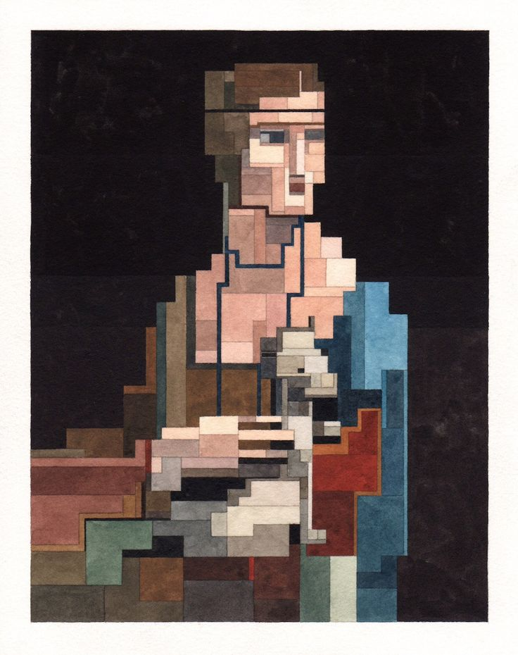 Pixelated Watercolor Paintings by Adam Lister – Inspiration Grid | Design Inspiration