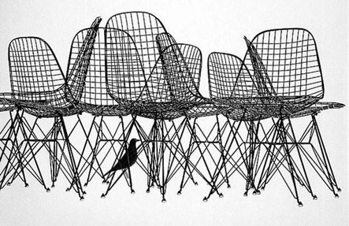 As The Crow Flies: Eames Wire Chairs and House Bird