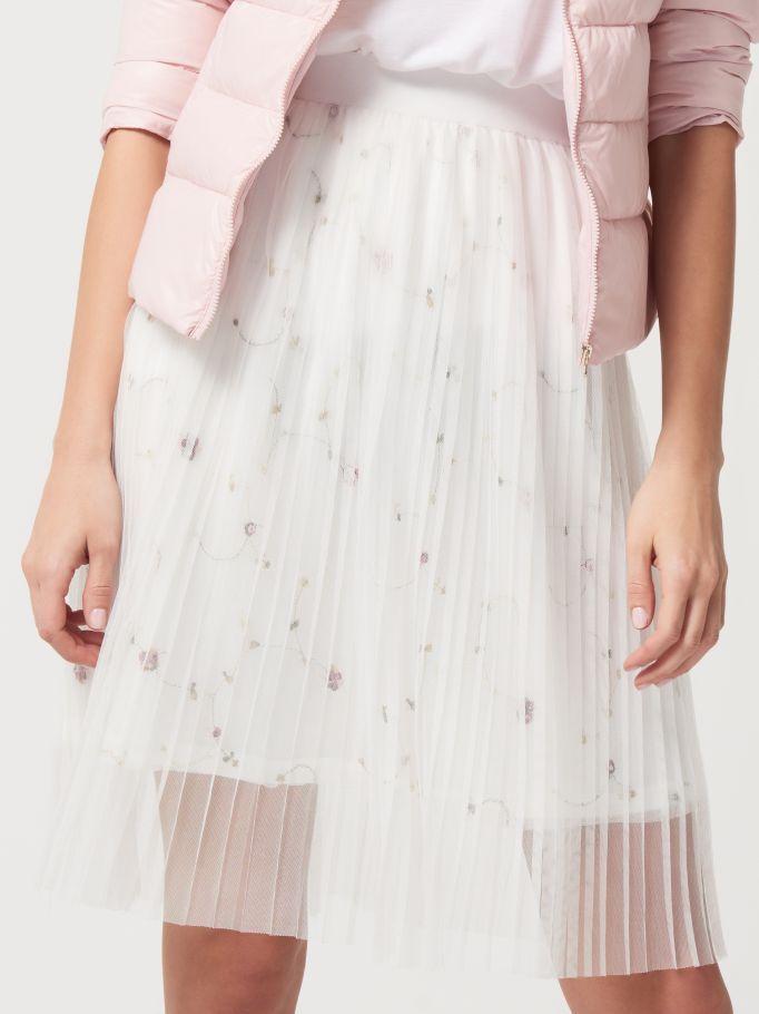 Tylová plisovaná sukně, MOHITO, RA418-00X