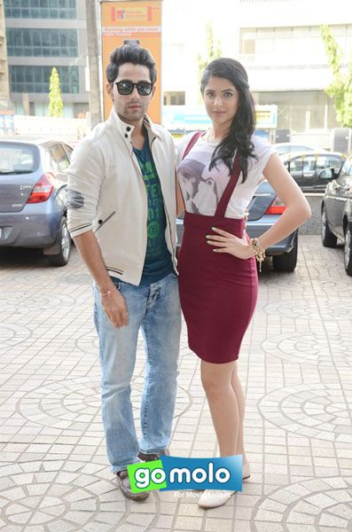 Armaan Jain & Deeksha Seth at the Promotion of Hindi movie 'Lekar Hum Deewana Dil' at PVR Cinemas in Andheri, Mumbai