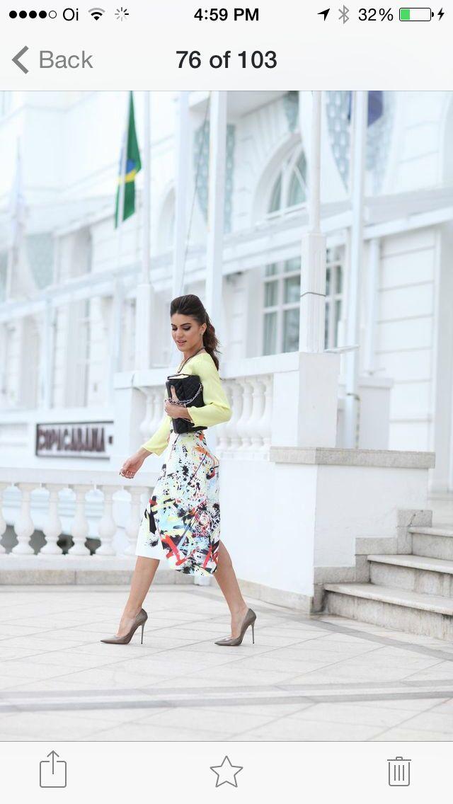 Fun summer midi skirt