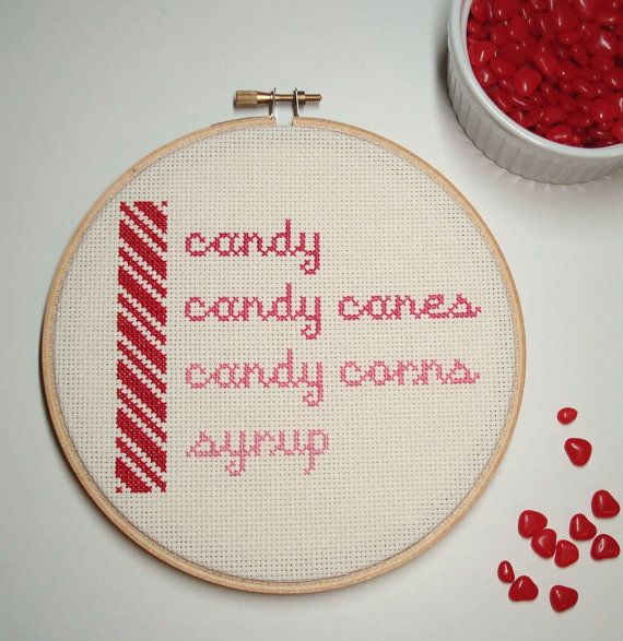 Cross stitch quote from Elf by notsomodernmillie on Etsy, $25.00