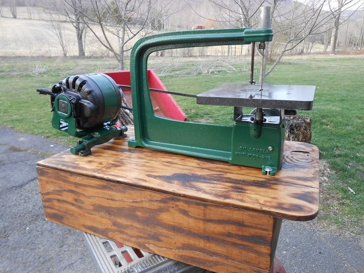 Here is a nice Craftsman scroll saw made in the 50's and early 60's I worked up this week. I plan to change the switch on the motor and wire it to a switch in the front of the box (that's why the switch cover is off on motor). This will last someone for many years. Before I restored it I ran it and used it on a couple projects. Ran like a charm.