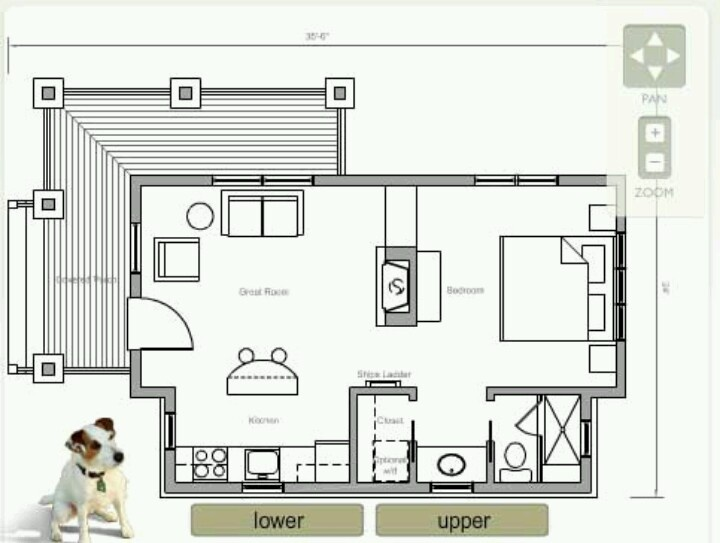 Floor plan for awesome little house