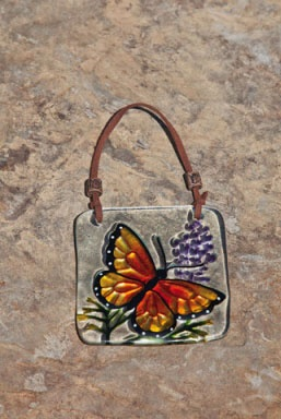 Stained Glass Wall Plaque with Butterfly