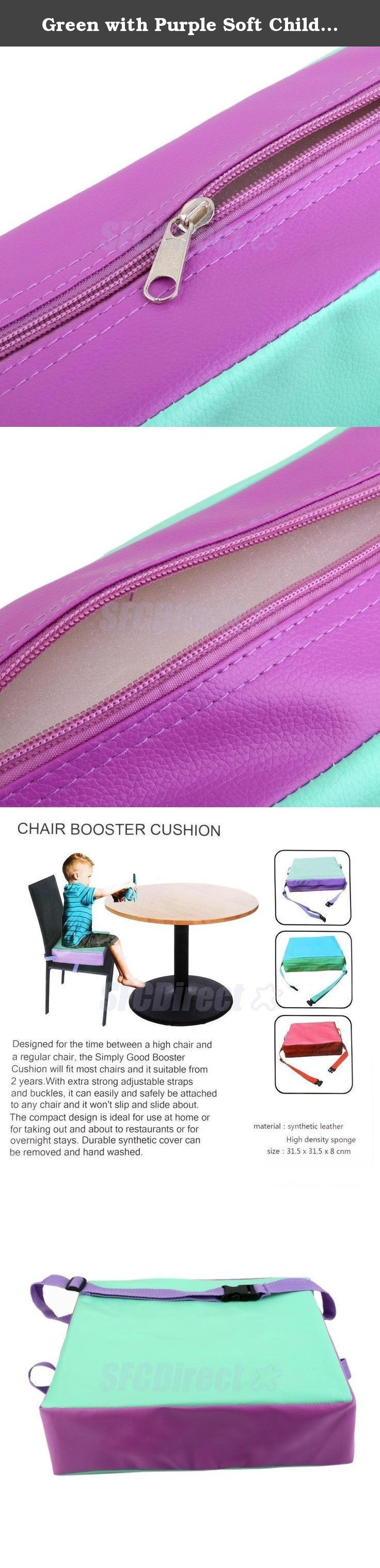 Green with Purple Soft Children Baby Toddler Chair Booster Kids Highchair Seat Pad Dining Cushion. Life baby sitting in the chair to eat, because the body is not enough Gao, very convenient, even bought a special chair baby, but once their children grow up, they can not be used, and this time, we can help cushion this increase Gao to your baby, you can adjust the tightness to be split out sponge to clean and waterproof synthetic leather, food accidentally fell engage in dirty, as long as…