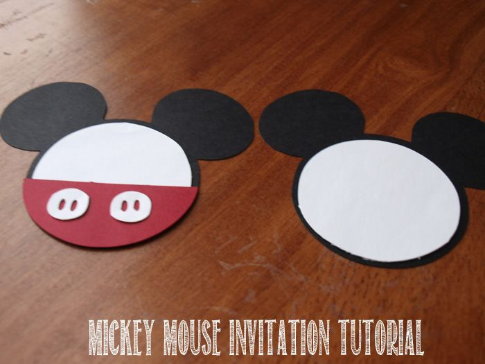 Step by Step Mickey Mouse Clubhouse Invitation Tutorial. Great for a Mickey Mouse Clubhouse Party. Check out the other DIY Ideas as well. http://rebeccaautry.com/mickey-mouse-clubhouse-invitation-tutorial/