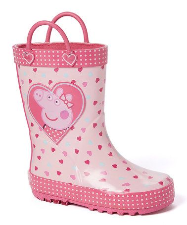 Look what I found on #zulily! Peppa Pig Hearts Rain Boot by Peppa Pig #zulilyfinds