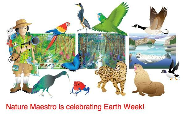 In honor of Earth Week, Nature Maestro will be offering TWOfree downloads: On Wednesday, April 22nd, download Nature Maestro Rainforest Day free at:https://itunes.apple.com/us/app/apple-store/id869671581?mt=8 And on Friday, April 24th Nature Maestro, in alliance with MomsWithApps will be offering Nature Maestro Expedition free at:https://itunes.apple.com/us/app/apple-store/id869685116?mt=8