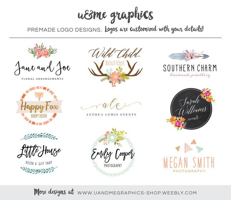 Premade logo designs by U&Me Graphics #graphicdesign #premadelogos #smallbusiness #branding (Cape Town Logo Designs)