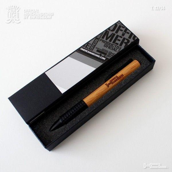 Bolígrafo Wood Box HCL. - Bolígrafo de Bambú con caja de presentación individual y con grabación en láser HCL.