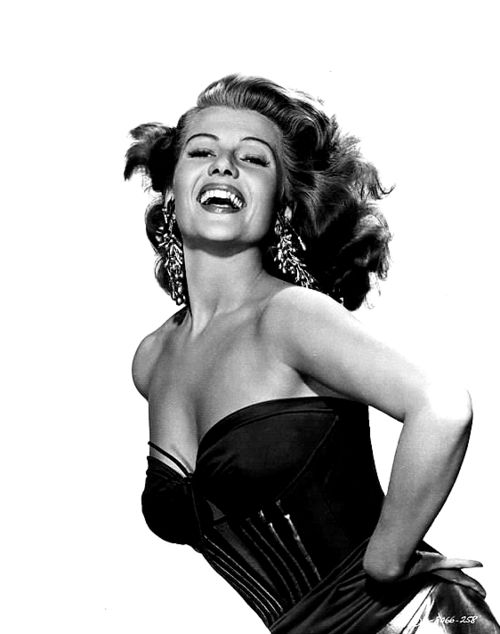 theniftyfifties:    Rita Hayworth publicity photo for 'Affair in Trinidad', 1952.