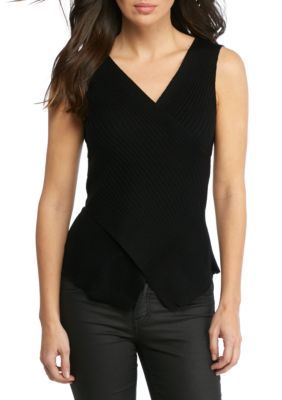 Hyfve Women's Sleeveless Asymmetrical Sweater Top - Black - M