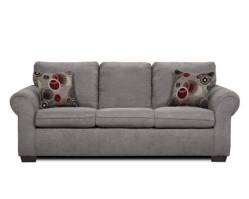 Simmons Graphite Elegant Micro Fiber Queen Size Sofa Sleeper Simmons  Upholstery,http://