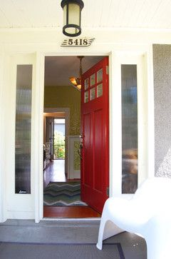 Traditional Home Red Door Design Ideas, Pictures, Remodel, and Decor - page 4
