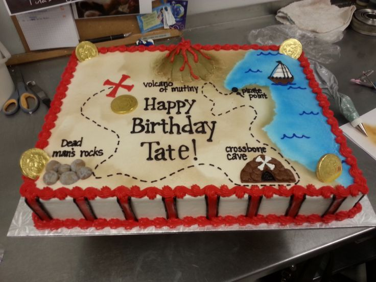 Pirate Themed Cake Decorations : Best 25+ Treasure map cake ideas on Pinterest Pirate ...