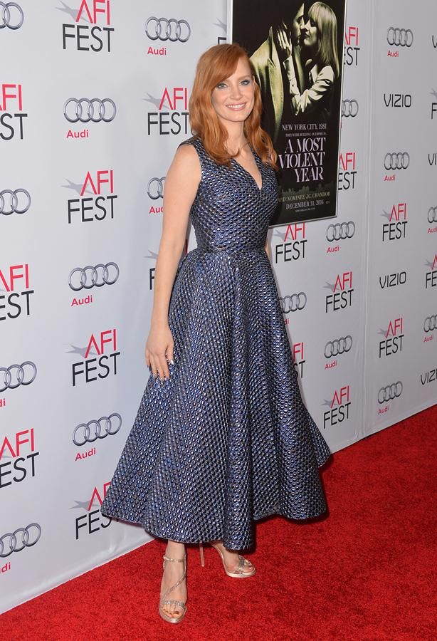 JESSICA CHASTAIN at Afi Fest 2014 Opening Night Gala in