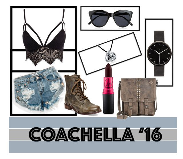 """Coachella 2016"" by clareceq29 on Polyvore featuring One Teaspoon, Le Specs, Steve Madden, Club L, Bling Jewelry, I Love Ugly, MAC Cosmetics and Patricia Nash"