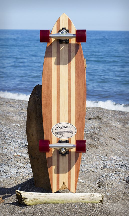 "Skinner Custom Longboards 39"" Riptail                                                                                                                                                      More"