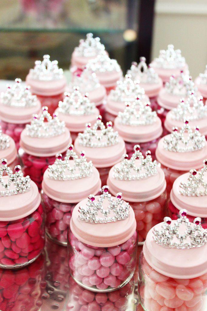 princess baby jar favors