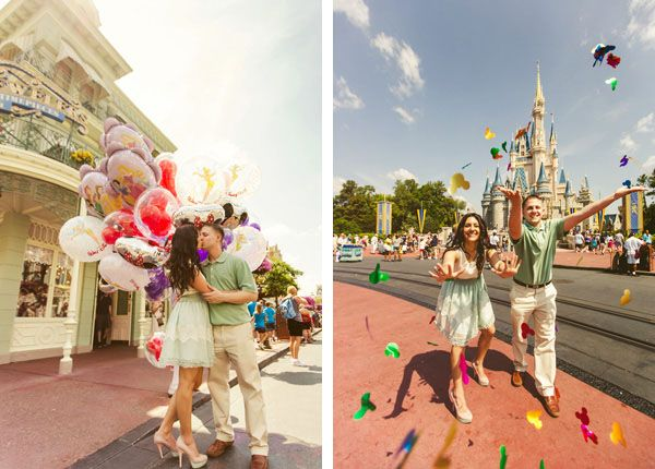 super fun disney world engagement session! Photo by Concept Photography.